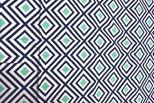Geo Pop Diamonds Canvas in Blue and Green from Kaufman - WHOLE PIECE!