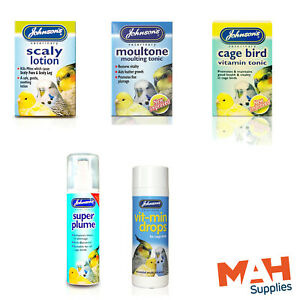 Johnson's Caged Bird Tonic Scaly Lotion Moultone Super Plume Vit-Min Drops
