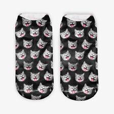 3D Print Animal Women  Socks Socks Cute Cat Unisex Low Cut Ankle Socks RkEV