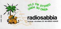ADESIVO-RADIOSABBIA-RICCIONE - ORIGINALE- NUOVO