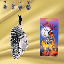 """►►INDIANER AMULETT ►► """"Indian Spirit"""" Zinnanhänger, nickelfrei, Kordel *NEU* OVP"""