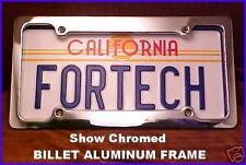 BILLET ALUMINUM Show Chrome LICENSE PLATE FRAME. Classy. 4 Hole. NEW