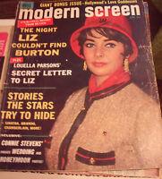Modern Screen Magazine January 1964 Liz Taylor Louella Parsons Connie Stevens