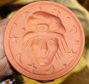 "Ganz - Terracotta Halloween Cookie Stamp - ""Terror-ific"" Halloween Witch NEW!"
