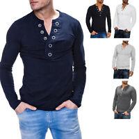 Carisma Herren Langarmshirt mit Knopfleiste Herrenshirt Shirt SALE %