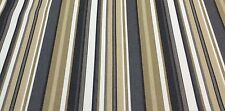 """P KAUFMANN PATIO STRIPE CHARCOAL Furniture Upholstery Fabric BY THE YARD 54""""W"""