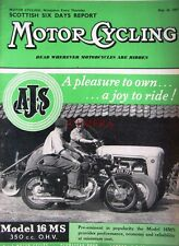 May 16 1957 A.J.S 'Model 16MS' Motor Cycle ADVERT - Magazine Cover Print