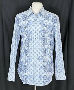Robert Graham Men's Paisley All Over Print Embroider Button Shirt Size Large