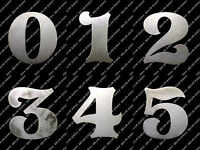 """FONT -- CLASSIC 4"""" -- Metal House Address Numbers Home Mailbox or Stencil"""