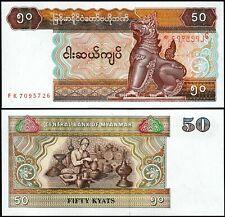 MYANMAR 50 KYATS 1997 P 73 UNC