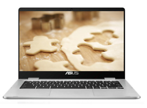 "ASUS Chromebook 14"" HD 180° Nano Edge Display Intel 2.4GHz 64GB SSD 4GB RAM"
