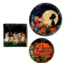 Peanuts Snoopy Great Pumpkin Halloween Dinner Dessert Paper Plates & Napkins