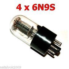 4 pcs 6N9S (6H9C) 6SL7 1579 Russian Double Triode Tubes NOS