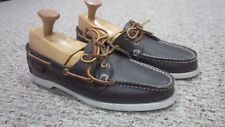 Women's Vintage Quoddy Boat Shoes Moccasins Leather Brown Size 9 Made in USA