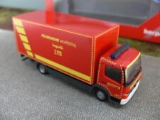 1/87 Herpa MB Atego Fw Wuppertal GW Logistik Koffer-LKW mit Ladebordwand 091435