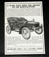 1905 OLD MAGAZINE PRINT AD, ELMORE MFG, CLYDE OHIO, THE PATHFINDER TOURING CAR!