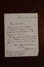✒ L.A.S. Alfred HENNEQUIN à Aurélien SCHOLL - veut fauteuil pour Dominos roses