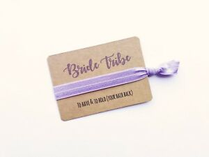 """Bride Tribe Hen Party Hair Tie / Wristband Favours """"To Have & To Hold"""""""