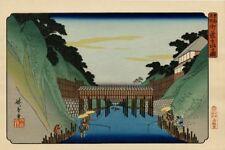 """Véritable Estampe Japonaise De Hiroshige """"Vue De Ochanomizu"""""""