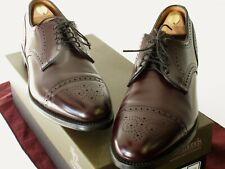 New Allen Edmonds Sanford Shoes 12.5A Burgundy Scrolled Captoe Brogues