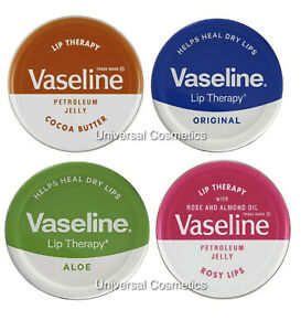 3 Pack Vaseline Lip Therapy Balm Petroleum Jelly 20g Pocket Size Pots