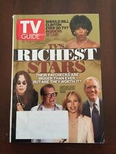 TV Guide Oct 19-22, 2002 TV's Richest Stars, Oprah, Ozzy, Drew Carey, Letterman
