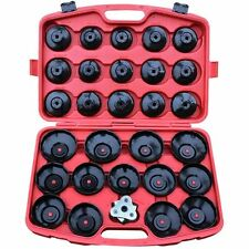 30 pcs Cap Cup Type Oil Filter Remover Wrench Tool Set Removal Socket Set Kit