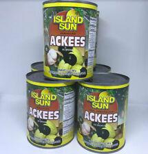 6 CAN JAMAICAN ACKEE 18.3 OUNCES 540ML. SUN ISLAND  PLUS 2LBS SALTED FISH