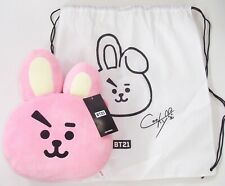 Official BTS BT21 Plush Large Cushion Dust Cover / Rucksack OR Keyclips 8 Styles
