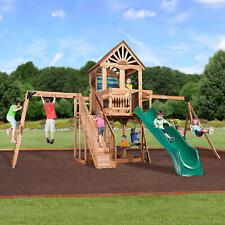 Backyard Discovery Oceanview Cedar Swing Set Outdoor Adventure Kids playground