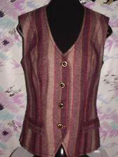 Custom tailored vintage lady's wool vest size 6-8 stunning