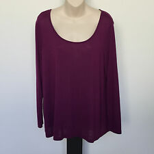 'RESORT REPORT' BNWT SIZE 'L' PURPLE LONG SLEEVE TEXTURED WEAVE TOP