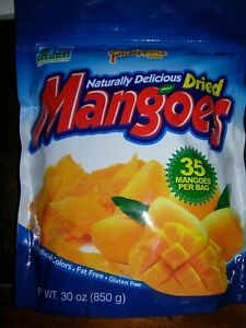 Phillippine Finest Quality Dried Mangoes Fruit 30 oz BAG You Choose 1,2,3,5 Bags