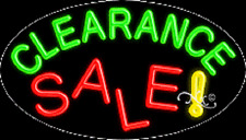 "New ""Clearance Sale"" 30x17 Oval Solid/Flash Real Neon Sign w/Custom Option 14506"