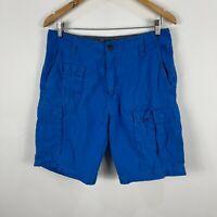 Nautica Mens Cargo Shorts 30 Blue Pockets