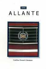 1991 Cadillac Allante Owners Manual User Guide Reference Operator Book Fuses OEM