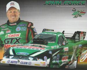 2012 John Force Castrol GTX Ford Mustang Funny Car NHRA Hero Card