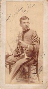 1893 CDV:  Trumpter in Uniform.  Military Band?
