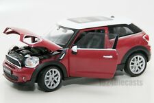 Mini Cooper Paceman in Red, Welly 24050, scale 1:24, model adult boy gift