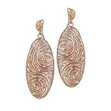 ORECCHINI BOCCADAMO Alissa, pendenti in bronzo rosato e glitter ref. XOR240RS