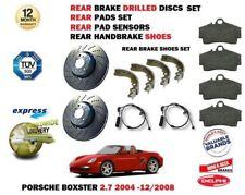 Pour Porsche Boxster 2.7 2004-12/2008 Arrière Perforé Kit Disque Frein + Patins+
