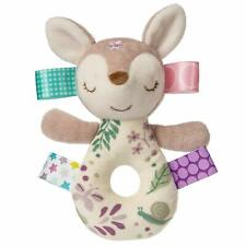 Taggies Flora Fawn Embroidered Soft Ring Rattle