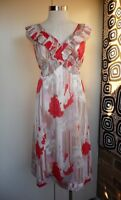 SZ 14 *DIANA FERRARI* STUNNING PRINT SUMMER DRESS - LINED - EC - WOW!