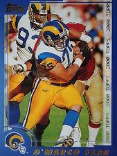 NFL 92 D'Marco Farr St. Louis Rams Topps 2000