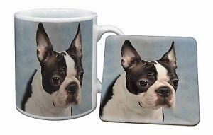 Boston Terrier Dog Mug+Coaster Christmas/Birthday Gift Idea, AD-BT8MC