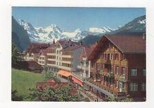 Wengen Hotels Metropol & Bernerhof 1972 Postcard Switzerland 567a