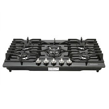 "Branded 30""Built-in Cooktop 5 Burners Stove LPG/NG Gas Hob Cooker Black Titanium"