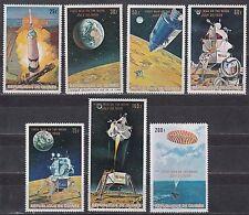 Guinee / Guinea Nr. 542IIA-548IIA** Erste Mondlandung / Engl. Aufdruck