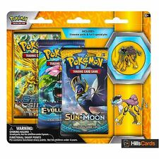 Pokemon Cards: Legendary Beasts - Raikou: 3 Pack Pin Blister - Triple Booster