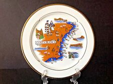 "RARE Vintage Costa Blanca Landmarks Alicante Spain 9-7/8"" Porcelain Plate MARKED"